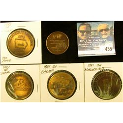 (5) Different Iowa Centennial Medals, includes: Bayard, Beaconsfield, Cushing, Lincoln (500 mtg.), &