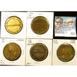 (5) Different Iowa Centennial Medals, includes: Blencoe, Dallas Center, La Verne, Storm Lake, & Stra