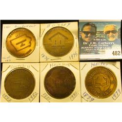 (5) Different Iowa Centennial Medals, includes: Harper, Havelock, Haverhill, Bussey, & Bondurant, Io