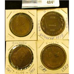 (5) Different Iowa Centennial Medals, includes: George, Garwin, Allerton, & Alexander, Ia. No.95.