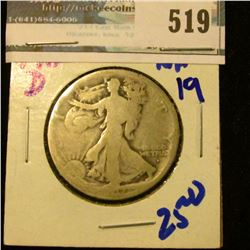 1917-D OBVERSE MINT MARK WALKING LIBERTY HALF DOLLAR