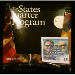 THE STATES QUARTER PROGRAM.  THERE ARE A TOTAL OF 21 STATES IN THESE SETS.  THERE IS A STATE QUARTER