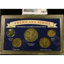 AMERICAN COIN SERIES COIN SET WHICH INCLUDES A 1939 WALKING LIBERTY HALF DOLLAR