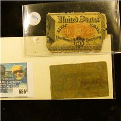 50 CENT POSTAL CURRENCY 50 CRNT FRACTIONAL NOTE AND FIFTY CENTS FRACTIONAL NOTE