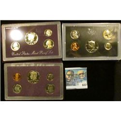 1971, 1972, 1976, 1987, AND 1989 PROOF SETS