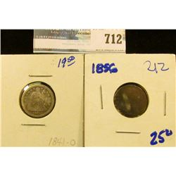 1856 AND 1841-O SEATED DIMES