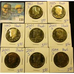 8 PROOF KENNEDY HALF DOLLARS