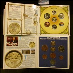 1984 BRITISHCOIN SET AND 1987 BRITISH COIN SET