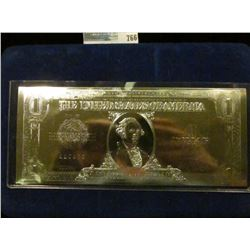 2001 SILVER CERTIFICATE SILVER PLATED BY THE NATIONAL COLLECTER'S MINT