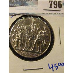 GERMANY 1913 THREE MARK COIN WITH A MAN ON HORSEBACK RIDING INTO TOWN SURROUNDED BY TOWNSPEOPLE
