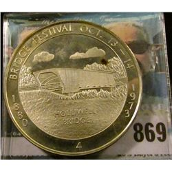 """1880 Bridge Festival Oct. 13-14, 1973 Holliwell Bridge"" No. 4 Sterling Silver. Madison County Cover"