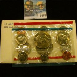 1048 _ 1978 P & D U.S. Mint Set in original government holder as issued. With Eisenhower Dollars.