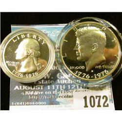 1072 _ 1976 S Silver Proof Bicentennial Quarter & Half-Dollar. Both encapsulated.