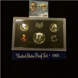 1095 _ 1968 S U.S. Silver Proof Set. Original as issued.