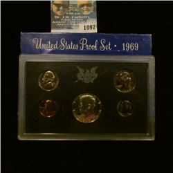 1097 _ 1969 S U.S. Silver Proof Set. Original as issued.