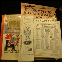 1150 _ Group of 'Doc' J.W. Carberry correspondence and price lists on Scrip; series 1923 200,000 Mar