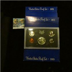 1160 _ 1969S, 70S, & 71S U.S. Proof Sets. All original as issued in boxes.