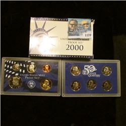 1170 _ 2000 S U.S. Proof Set, original as issued including Quarter set.