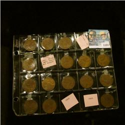 1181 _ Partial Set of Great Britain Large Pennies: 1930, 31, 34, 35, 36, 37, 38, 39, 40, 44, 45, 46,
