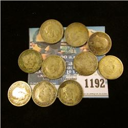 1192 _ Set of Great Britain Silver Three Pence Coins: 1903, 16, 20, 25, 38, 39, 41, 42, 43, & 44. (1