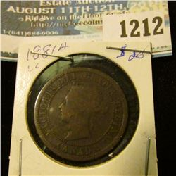 1212 _ 1881 H Canada Large Cent.