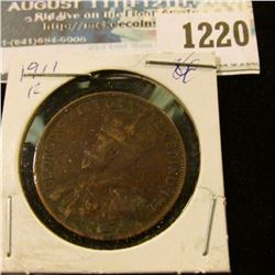 1220 _ 1911 Canada Large Cent.