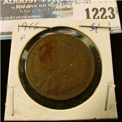 1223 _ 1916 Canada Large Cent.