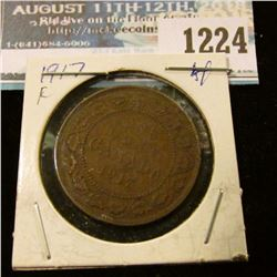 1224 _ 1917 Canada Large Cent.