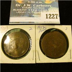1227 _ 1903 & 1912 Canada Large Cents. Low Grades.