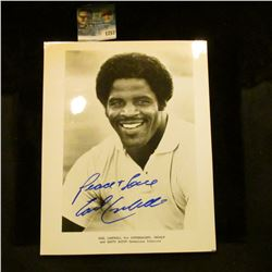 1257 _ Autographed Photo of Earl Campbell for advertising Skoal and Copenhagen Tobacco.