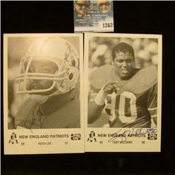 1262 _ (2) Autographed Photo's Toby Williams and Keith Lee of the New England Patriots from Frito La