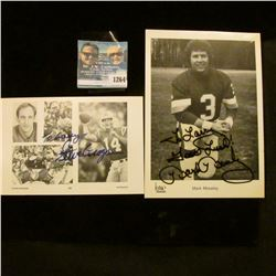 1264 _ (2) Autographed Photo's of Steve Grogan Quarterback of the New England Patriots and Mark Mose