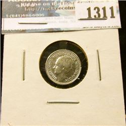 1311 _ 1935 Netherlands, Silver 10 Cents.