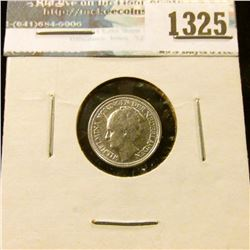 1325 _ 1936 Netherlands, Silver 10 Cents.