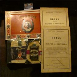 1358 _ Old North State Smoking, Country Gentleman Tobacco Pouches, (3) Red Tips Cigar Box Lables & 1