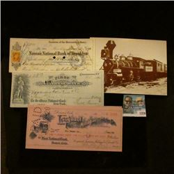 1376 _ 1871 Check Nassau National Bank of Brooklyn, Trustees of the Mercantile Library, 1890 First N