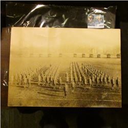 """1424 _ 10' X 14"""" Student Army Training Corps. Ames, Iowa, Dec. 7, 1918 Sepia Toned Large Photo."""