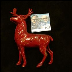 1427 _ Cast Iron Reindeer Bank, The Bank is Old and Original but Maybe not the Paint.