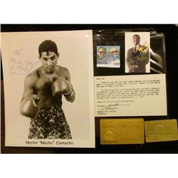"""1430 _ Autographed Card """"Smokin' Joe Frazier"""" with a letter requesting a donation; and an autographe"""