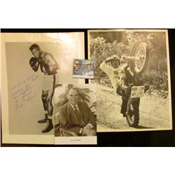 1431 _ Black and White Photo of Bobby Wheeler King, famous motorcycle competitor; autographed black
