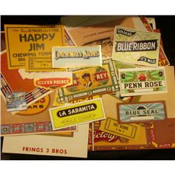 1447 _ Approximately 50 different old Tobacco Box labels.