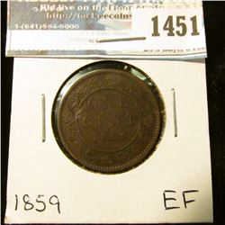 1451 _ 1859 Canada Large Cent, EF.