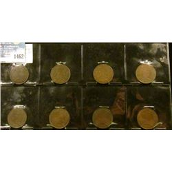 1462 _ 1905, 1907, 1908, (2) 1916, (2) 1917, & 1918 Canada Large Cents, G-VF.