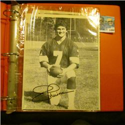 1490 _ Three-ring notebook with several autographed Football related photos/cards.