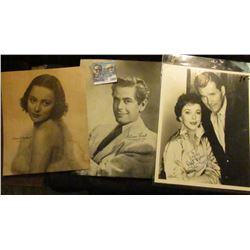 1500 _ Autographed black and white photos of Ida Lupino & Howard Duff (Western film stars); unautogr