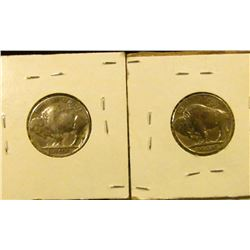 1510 _ 1930 And 1934 Buffalo Nickels With Full Horns