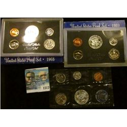 1517 _ Proof Coin Sets Includes 1968, 1969, And 1965 Special Mint Set.  The Half Dollars In These Se