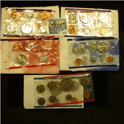 1518 _ 1976, 1992, 1989, And 1999 Mint Sets.  The 1999 Mint Set Is Missing The State Quarters From T