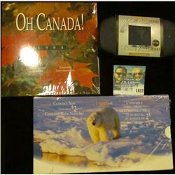1622 _ 2000 Polar Bear Canadian Two Dollar Coin With Display; 1996 Canadian Coin & Bank Note Set; &