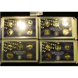 1624 _ 1999- 2002 Proof State Quarter Sets.  There Are A Total Of 20 Proof Quarters In These Lots